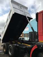 We install hydraulic system on tippers
