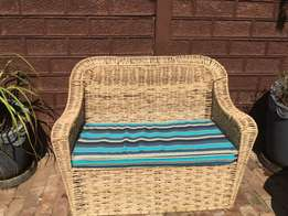 Double seater with cusion and outdoor cover