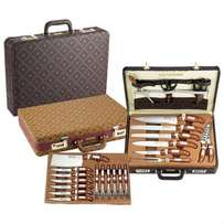 New ROYALTY LINE 25 pcs knife set with leather case