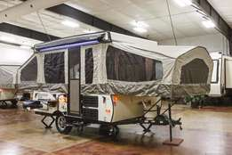 Camping trailers of various sizes for sale