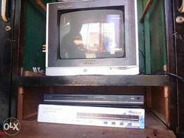 "14"" tv and lg DVD player"