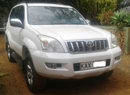 2007 Toyota L/C Prado, manual 3.0L turbo diesel 1KZ engine, local spec