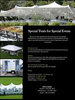 Tents and event equipment for hire