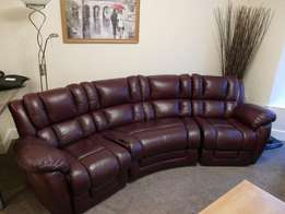 4 Seater Curved Static Lazy Boy Augusta & Rocker Recliner Chair, Colou