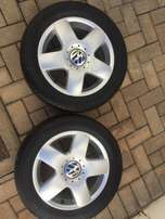 2 Megs Rims and Brande New Tyres For Polo