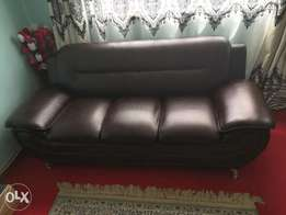5 seater sinthetic leather sofa