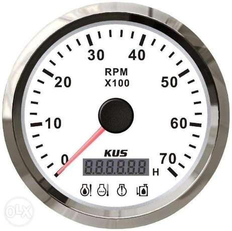Tachometer 0-7000rpm with CHK ENG, Low Pressure, Low Fuel, Temperature