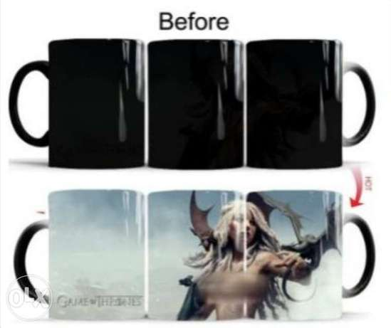 Game of thrones magical color changing mugs