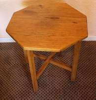 Solid Oak Octagonal Table - R650.00