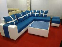 Ahmeda sofa set with a center table and puffy