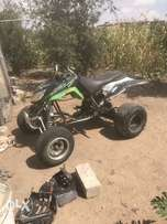 dvx 400 complete frame with covers,wheels and brakes