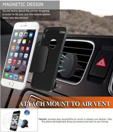 360 Degree Universal Car Holder Magnetic Air Vent Mount for Smartphone Nairobi West - image 2