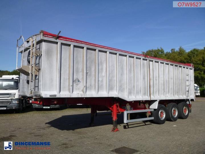 Wilcox Tipper trailer alu 49 m3 + tarpaulin - 2007