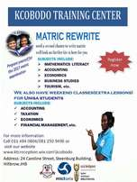 Matric Rewrite/Tertiary,University extra lessons