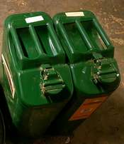 2x 20lt Jerry cans & 1x 40lt water can with pipe and tap