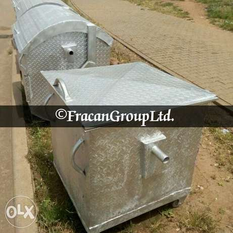 Galvanized 1200 liter AEPB specified waste bin . Free delivery Abuja - image 4