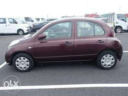 Nissan March. Maroon on sale: Hire purchase accepted