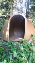 Large dog dome kennel