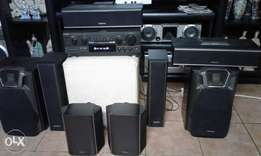 Technics home theater for sale 8 speakers