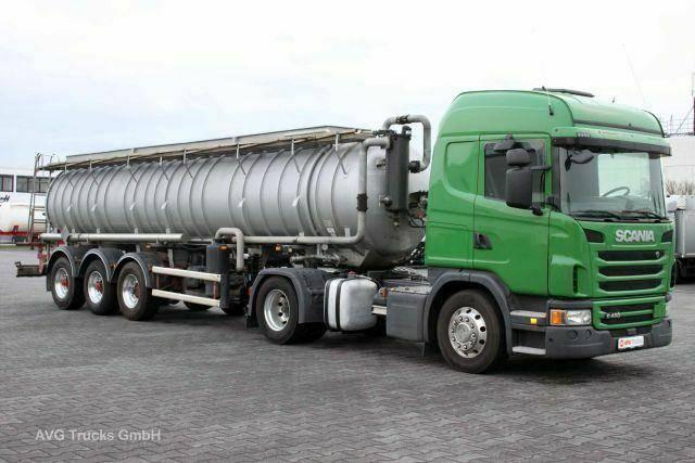 Scania G 480 Euro 6, Edelstahl Saug +Druckauflieger 8mm - 2013