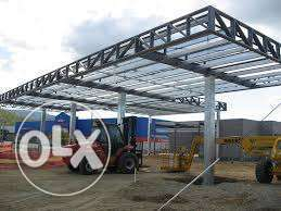 Fabrication and repair of canopy service station.