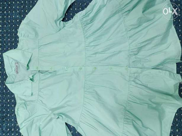 Mint shirt with frock style