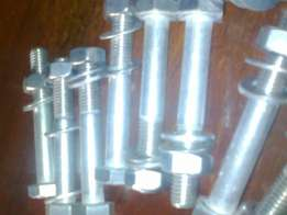 Stainless steel nuts , bolts and 2 washers for M10 R8.50ea set.