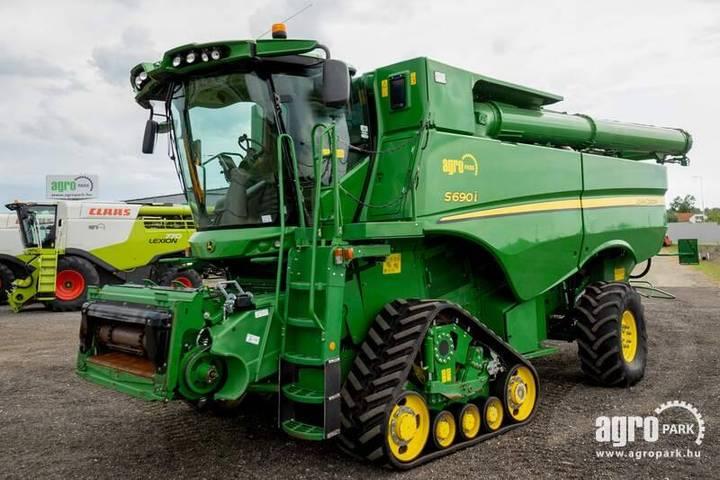 John Deere S690i 4wd (642/1107 Hours) Rotary Combine, Tracks - 2015