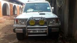 Pajero Wagon in perfect shape, new engine, air conditioned interior.