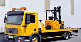 Dedicated forklift transport available