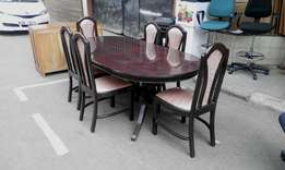 Hardwood Dining Table With 6 Chairs
