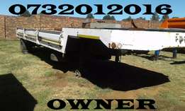 Single axle step deck 10 meter trailer for sale