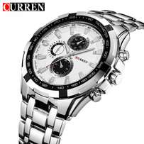Curren stainless steel wrist watch in gold bracelet at 3000ksh.