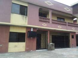 2 bedrooms flat to let alakuko on a tarred road in an estate for N250K