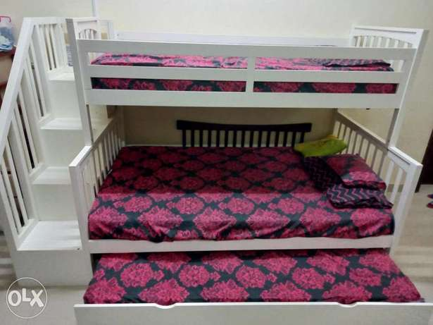 Home center pure wooden trio Bed