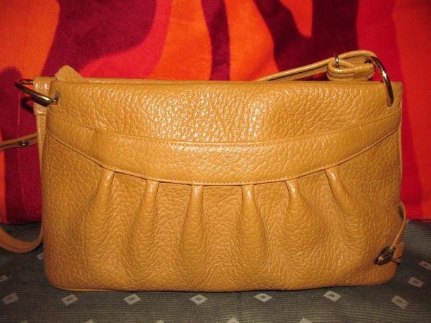 3970680ca025c oryginalna elegancka torebka skórzana musztardowa żółta vintage Opole -  image 1