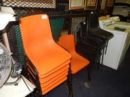 16 x Plastic Chairs with Steel Frames