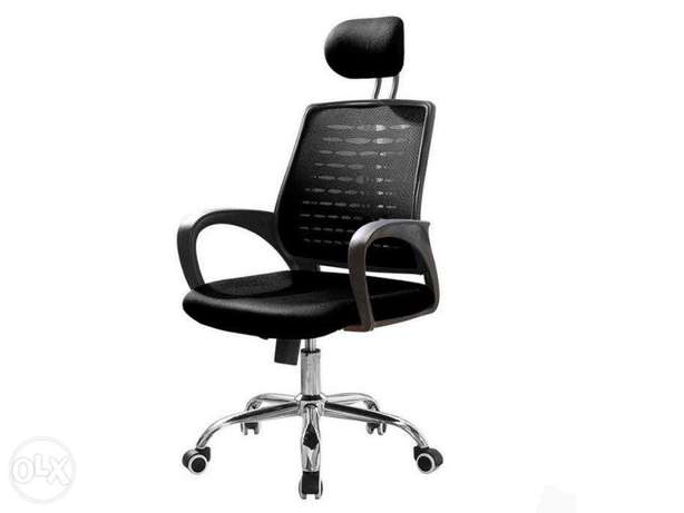 Deluxe-low-curved backrest with headrest swivel mesh office chair Mombasa Island - image 1