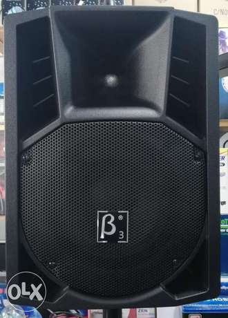 speaker beta three 8 inch,powered,,150w rms,new not used,3 pcs availab
