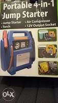 Portable 4-in-1 jump starter(complete new)