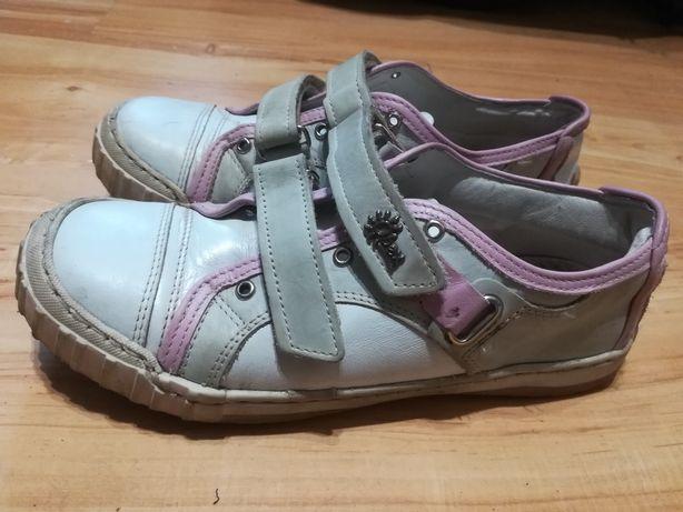 Trzewiki pantofle buty skórzane dziewczęce r.35 firmowe