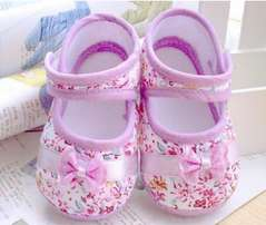 new born flowery shoes