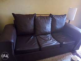 3 seater soft leather couch for sale