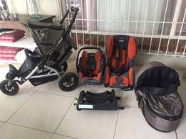 TFK Jogger Stroller and baby seat