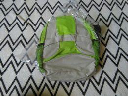 1f94d1e064bef Nowy plecaczek zielony szary maly plecak szkoly przedszkola