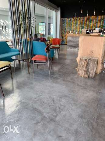 Natural Cementitious Top Flooring & Wall Works