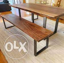 Wood And Steel Furnitures
