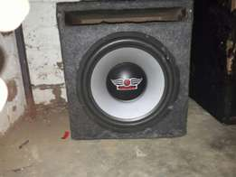 "10"" sub Audio god as well a audio bank amp 4 chanel 500 wat"