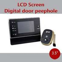 "3.5"" LCD Screen Digital Door Peephole Viewer, doorbell and camera"