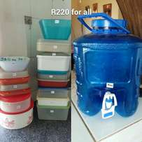 Tupperware and goodies